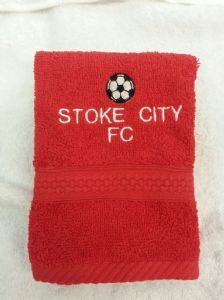 STOKE CITY PERSONALISED FACE CLOTH